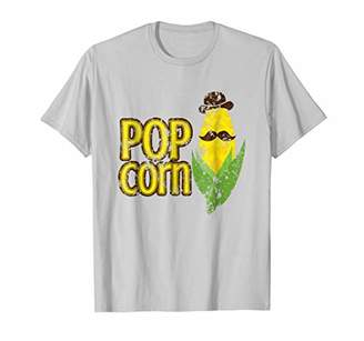 DAY Birger et Mikkelsen Pop Corn-Bad Pun Mustache Dad Joke Father's T-shirt