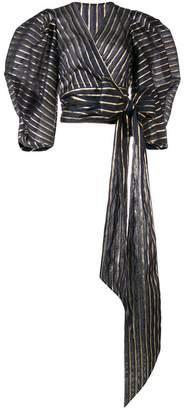 Alexandre Vauthier metallic stripe shirt