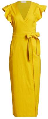 A.L.C. Walker Ruffle-Sleeve Tie Wrap Dress