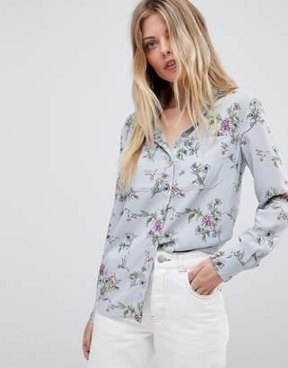 Oasis Floral Bird Print Shirt