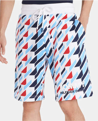 Tommy Hilfiger Men Regular-Fit Geometric-Print Logo Shorts