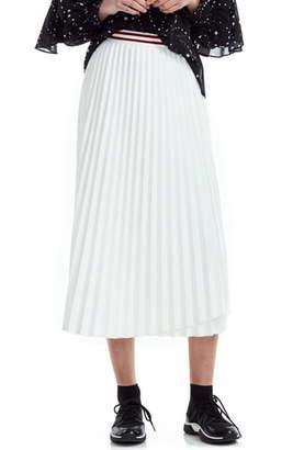 Maje Jouli Asymmetrical Pleated Skirt