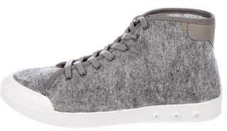 Rag & Bone Felt High-Top Sneakers