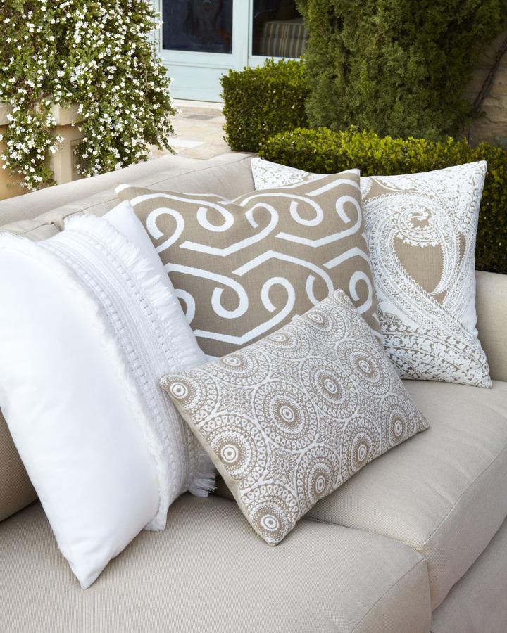 """Elaine Smith Outdoor """"Neutral"""" Pillow Collection"""