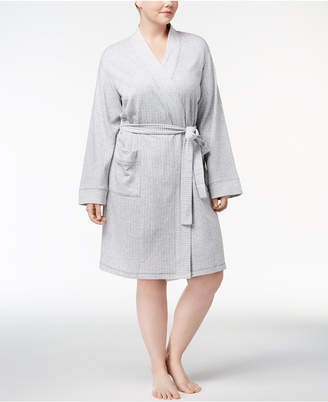 Charter Club Plus Size Short Knit Robe
