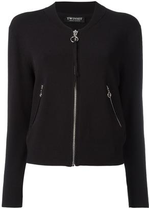 Twin-Set cropped zipped cardigan $222.33 thestylecure.com
