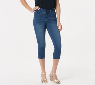 Laurie Felt Curve Silky Denim Capri Jeans