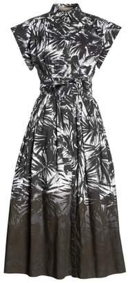 Michael Kors Dip Dye Wrap Waist Shirtdress