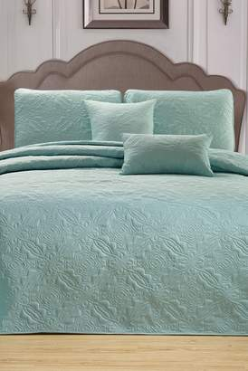 Duck River Textile Carlotta 5-Piece King Bedspread Set - Spa Green