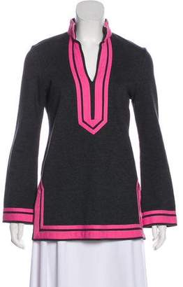 Tory Burch Colorblock Long Sleeve Sweater