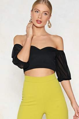 Nasty Gal Pour Your Sweetheart Out Off-the-Shoulder Crop Top