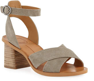 Dolce Vita Ray Suede Ankle-Strap Sandals