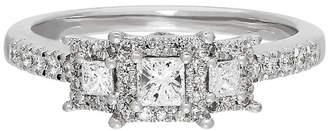 MODERN BRIDE Love Lives Forever Womens 1/2 CT. T.W. White Diamond 14K Gold 3-Stone Ring