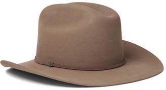 Stetson Kingsman + Tequila's Statesman Leather-Trimmed Felt Hat