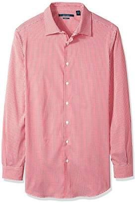 Perry Ellis Men's Big and Tall Mini Check Total Stretch Dress Shirt