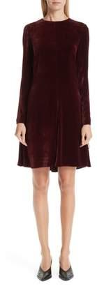 Stella McCartney Lace-Up Side Velvet Dress