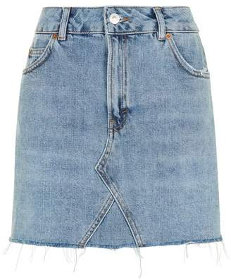 Topshop Moto mini denim skirt $55 thestylecure.com