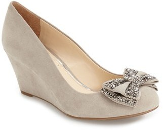 Women's Jessica Simpson 'Selonia' Crystal Embellished Wedge Pump $78.95 thestylecure.com