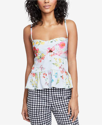 Rachel Roy Ruffled Floral-Print Top, Created for Macy's
