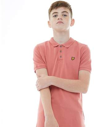 Lyle & Scott Junior Boys Classic Polo Sunset Pink