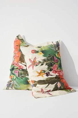 Urban Outfitters Ted Feighan For Flora Green Pillowcase Set