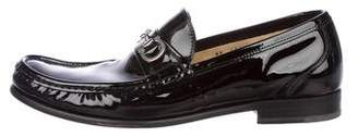 Salvatore Ferragamo Patent Leather Gancini Loafers
