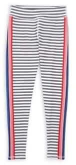 Spiritual Gangster Little Girl's & Girl's Active Stripe Leggings