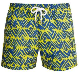 4fb672b9b6 Frescobol Carioca Sports Angra Lanca Print Swim Shorts - Mens - Yellow Multi