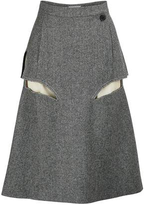 Maison Margiela Wool midi skirt