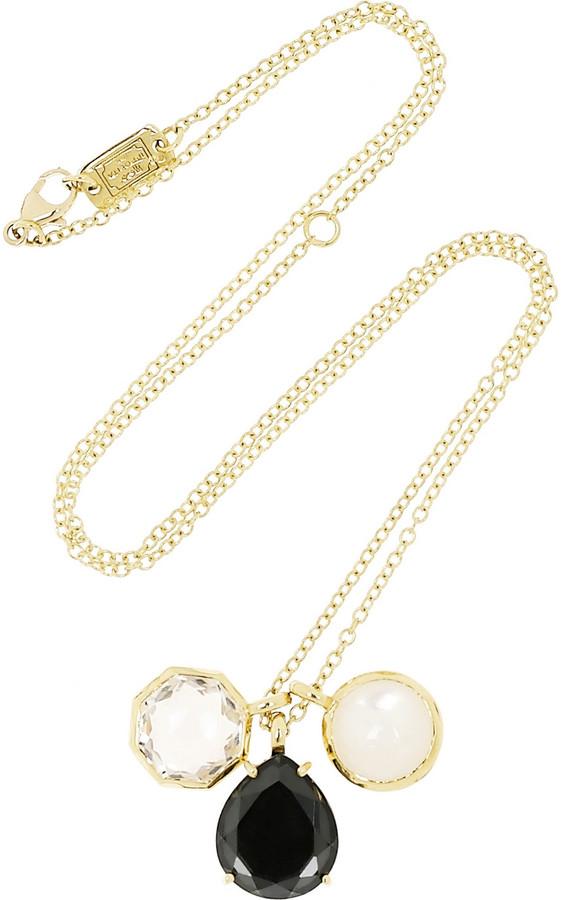 Ippolita Gelato 18-karat gold quartz and mother-of-pearl necklace