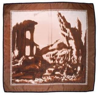 Prada Silk Print Scarf