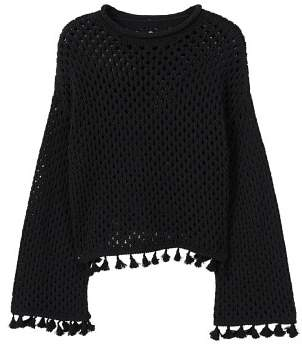 MANGO Recycled cotton openwork sweater