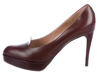 Emporio Armani Leather Loafer Pumps