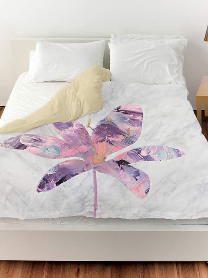 Amethyst Floral Duvet Cover
