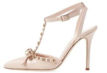 Jackie Ivory High Heel Sneakers