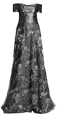 1d861b79cd8 Rene Ruiz Rene Ruiz Women s Off-The-Shoulder Floor-Length Gown