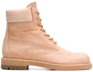 Hender Scheme industrial lace-up boots