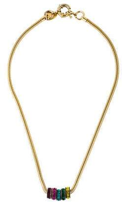 Giles & Brother Multicolor Crystal Rondelle Collar Necklace
