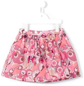 Fendi Bag Bugs jacquard skirt