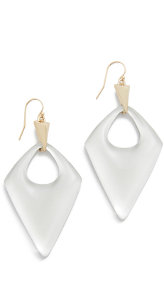 Alexis Bittar Pointed Pyramid Drop Earrings $145 thestylecure.com