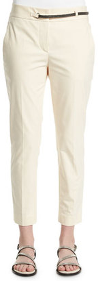 Brunello Cucinelli Straight-Leg Cropped Pants, Butter $1,370 thestylecure.com