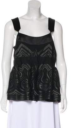 Magaschoni Embroidered Sleeveless Top
