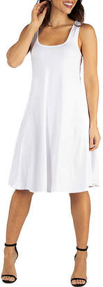 24/7 Comfort Apparel 24/7 Comfort Dresses Fitand Flare Knee Length Tank Dress
