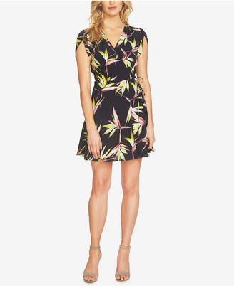 1.state Printed Faux-Wrap Dress $129 thestylecure.com