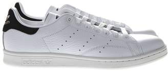 adidas Stan Smith White Leather And Black Suede Sneakers
