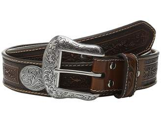 M&F Western Large Oval Concho Embossed Belt