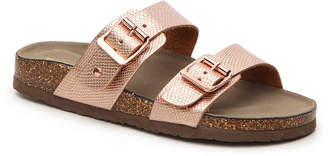 Women's Brando Flat Sandal -Rose Gold Metallic $50 thestylecure.com