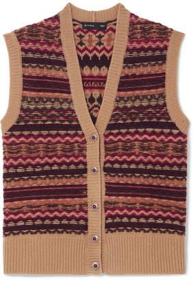 Etro Intarsia Wool-blend Vest - Beige