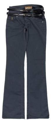 Galliano Mid-Rise Wide-Leg Jeans w/ Tags