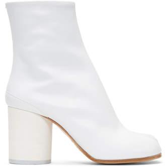 Maison Margiela White Soft Leather Tabi Boots
